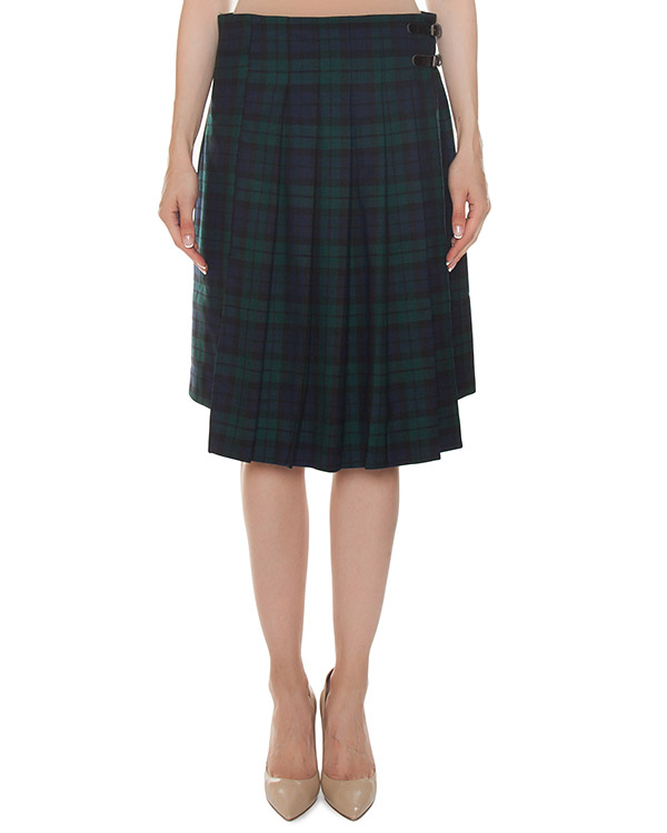 юбка шотландка на запах из шерсти  артикул LAMIX620220 марки P.A.R.O.S.H. купить за 26400 руб.
