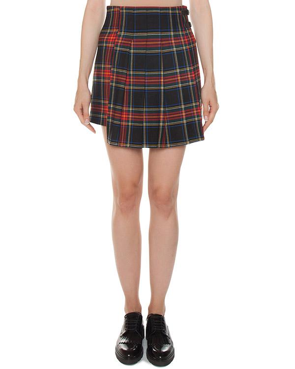 юбка шотландка из хлопка в клетку артикул LAMIX630062 марки P.A.R.O.S.H. купить за 22700 руб.