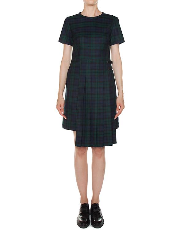 платье шотландка из тонкой шерсти артикул LAMIX721342 марки P.A.R.O.S.H. купить за 36800 руб.