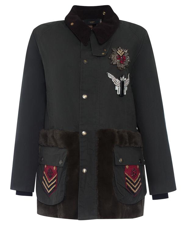 куртка из хлопка с отделкой натуральным мехом артикул LE0006R5 марки L'Edition купить за 63800 руб.