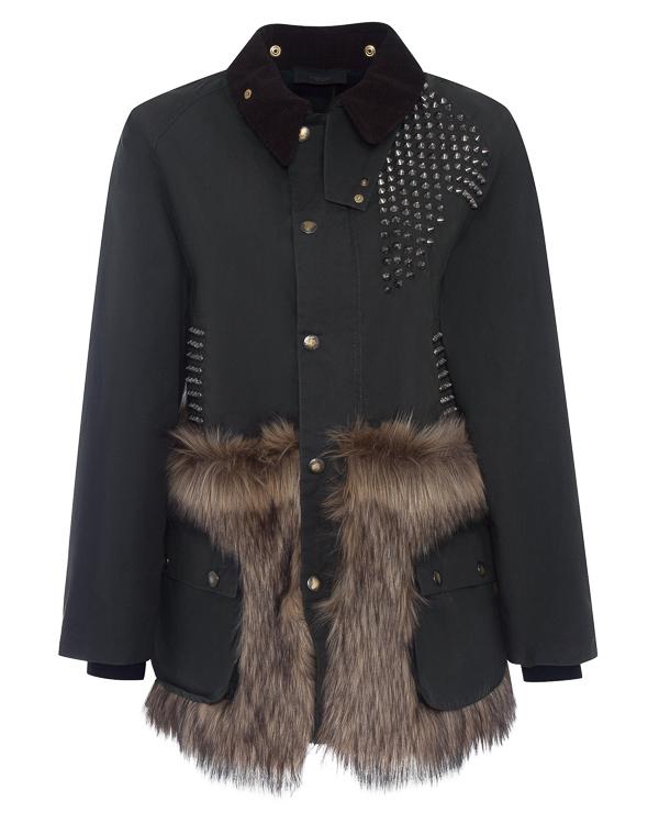 куртка из хлопка с отделкой натуральным мехом артикул LE0009R8 марки L'Edition купить за 63800 руб.