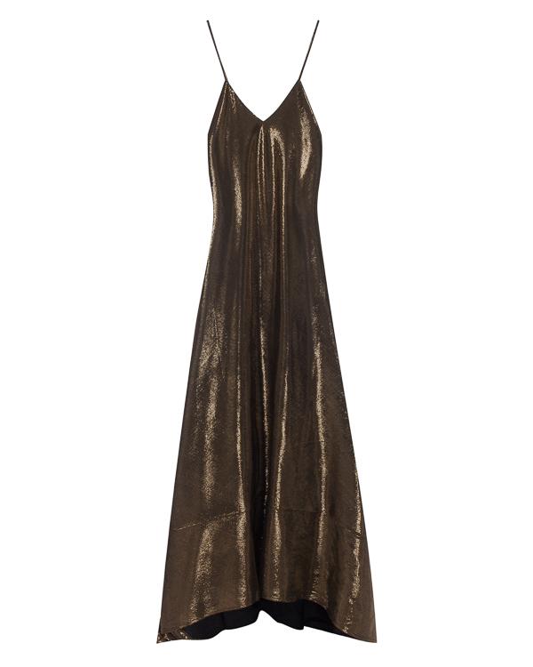 платье в пол с глубоким декольте артикул LE0370 марки L'Edition купить за 24100 руб.