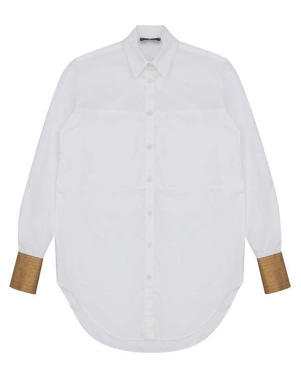 рубашка из хлопка с металлизированными манжетами артикул LE0376 марки L'Edition купить за 14400 руб.