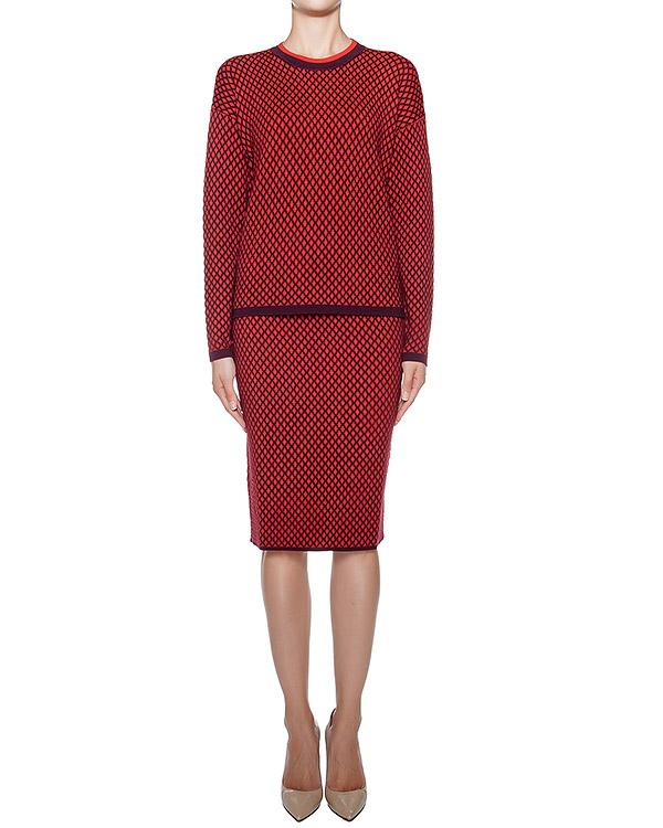 костюм джемпер+юбка, выполнены из мягкого полушерстяного трикотажа с узором артикул LEROM510071-LEROM560002 марки P.A.R.O.S.H. купить за 15200 руб.
