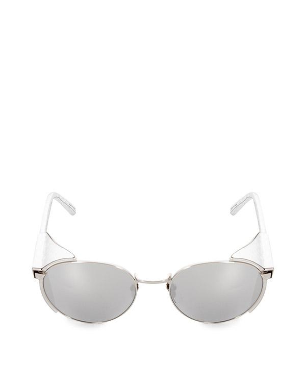 очки из позолоченного титана и змеиной кожи артикул LFL300C9SUNL марки Linda Farrow купить за 80100 руб.