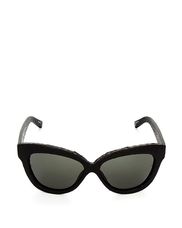 очки из итальянского ацетата, обтянутого кожей питона артикул LFL38C6SUN1 марки Linda Farrow купить за 47100 руб.