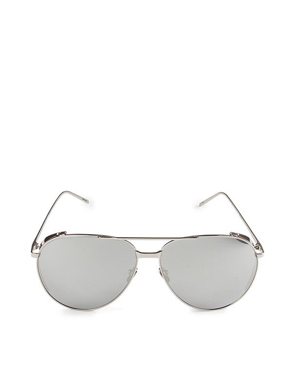 очки из титана с покрытием из белого золота артикул LFL425C2SUN марки Linda Farrow купить за 71500 руб.