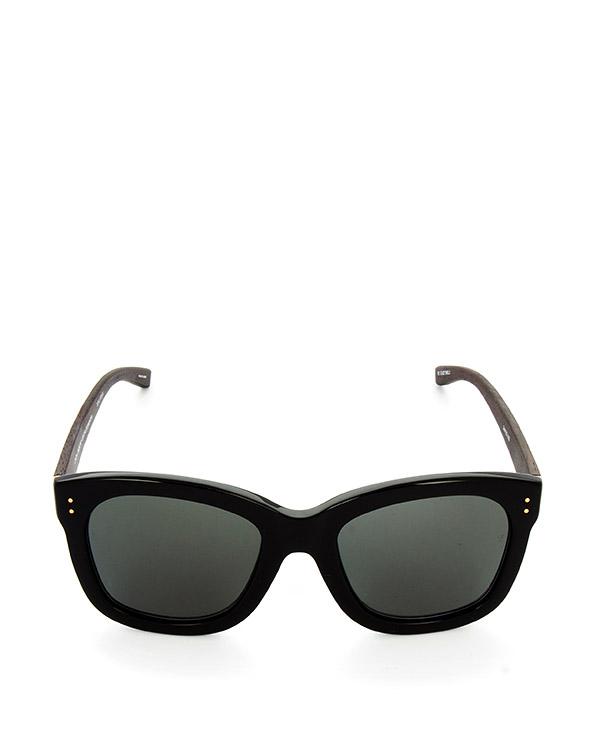 очки из итальянского ацетата цвета с деревянными дужками артикул LFL513C5SUN марки Linda Farrow купить за 39100 руб.