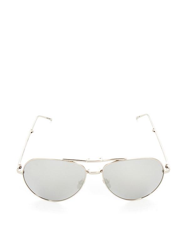 очки складные из титана с покрытием из белого золота и платиновыми линзами артикул LFL518C2SUN марки Linda Farrow купить за 79600 руб.