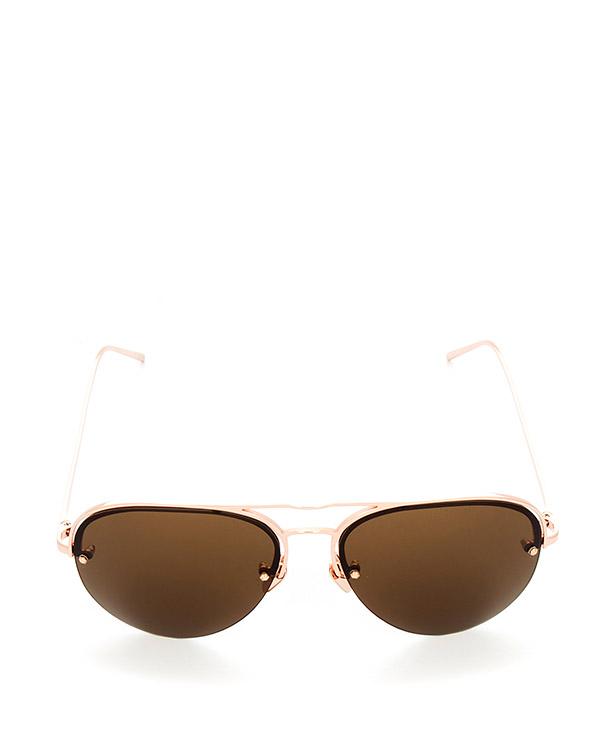 очки из японского титана с покрытием из розового золота артикул LFL543C6SUN марки Linda Farrow купить за 47100 руб.