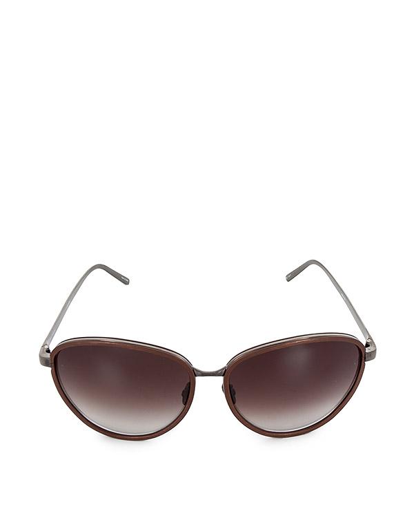 очки из легкого японского позолоченного титана артикул LFL550C6SUN марки Linda Farrow купить за 47100 руб.