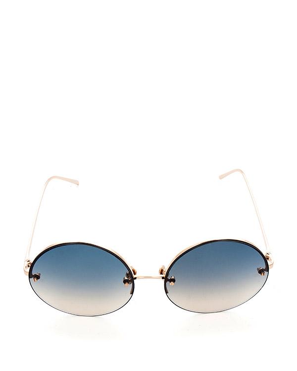 очки из титана с покрытием из светло-желтого золота артикул LFL565C6SUN марки Linda Farrow купить за 47100 руб.
