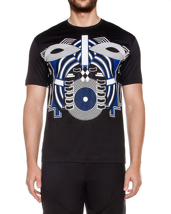 футболка из хлопкового трикотажа с принтом артикул LHB800P-LB804A марки Les Hommes купить за 8700 руб.