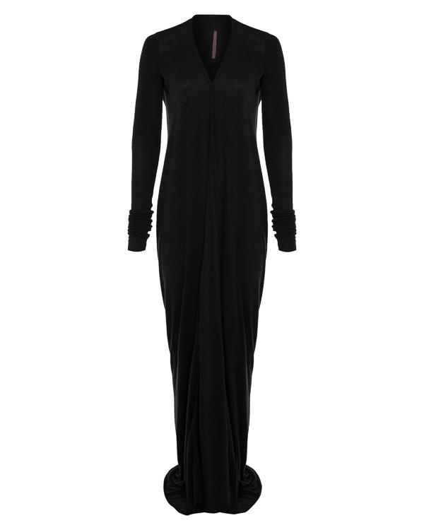 платье из легко драпирующегося трикотажа артикул LI17F4527 марки RICK OWENS LILLIES купить за 41200 руб.