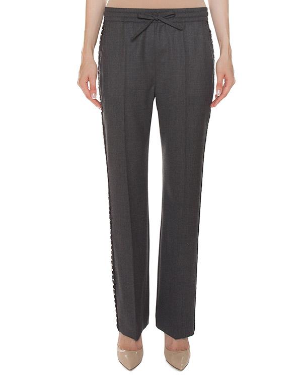 брюки из тонкой шерсти с отделкой по бокам артикул LILU230203B марки P.A.R.O.S.H. купить за 23500 руб.