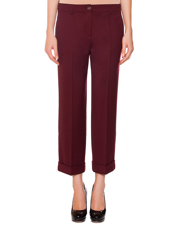 брюки укороченные прямого кроя  артикул LILYX230060 марки P.A.R.O.S.H. купить за 6800 руб.