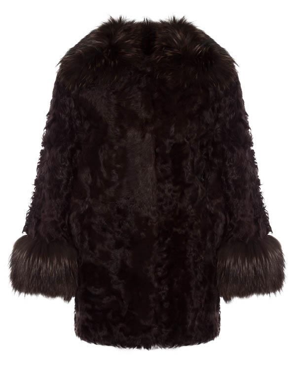 мех.пальто из овчины с отделкой мехом лисы  артикул LOKE9 марки P.A.R.O.S.H. купить за 28500 руб.