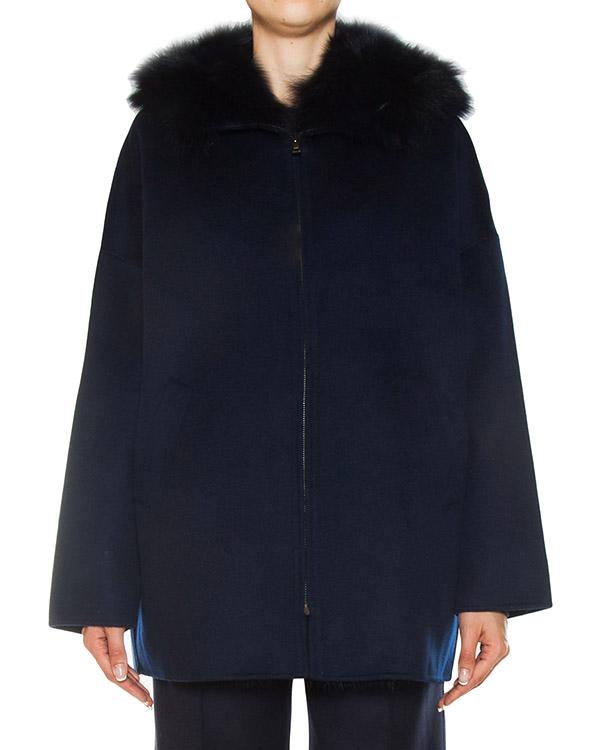 пальто из шерсти с отделкой натуральным мехом артикул LOVERYX420529P марки P.A.R.O.S.H. купить за 71500 руб.