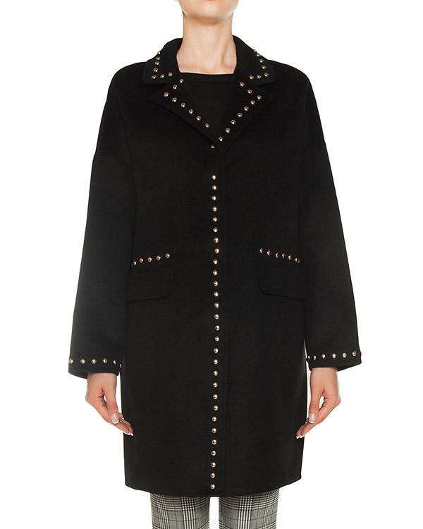 пальто из шерсти с отделкой металлическими клепками артикул LOVERYX430530B марки P.A.R.O.S.H. купить за 47500 руб.