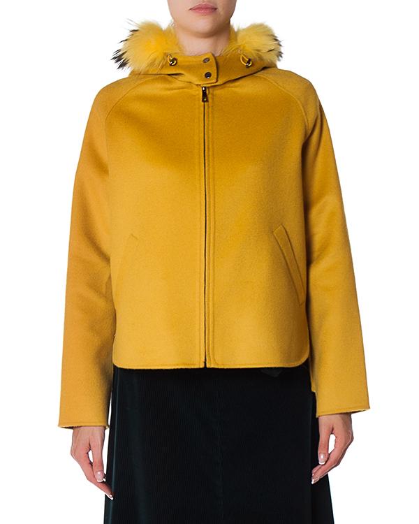 пальто из шерсти с отделкой мехом артикул LOVERYX430601P марки P.A.R.O.S.H. купить за 51100 руб.