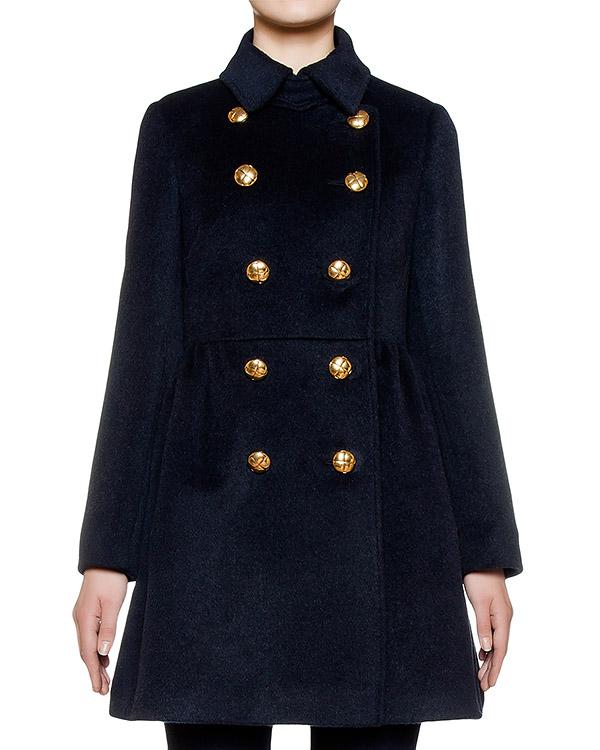 пальто двубортное, приталенного кроя из альпаки артикул LR0CA0S0 марки Valentino Red купить за 35400 руб.