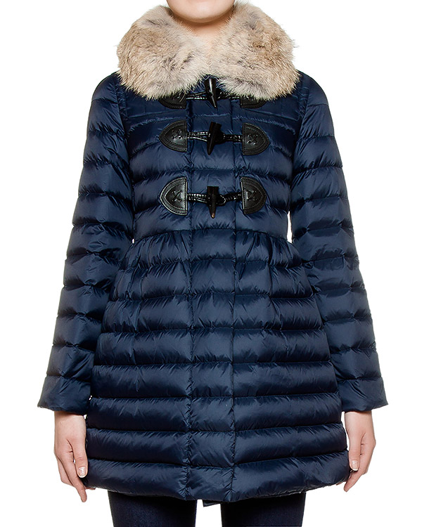 куртка из стеганой водонепроницаемой ткани с меховой оторочкой артикул LR0CP00C марки Valentino Red купить за 40200 руб.