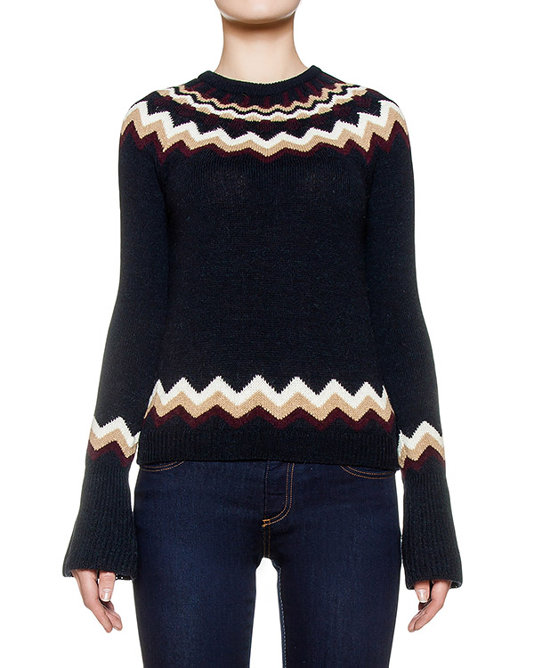 свитер из мягкой шерсти с узором артикул LR0KC05G марки Valentino Red купить за 14200 руб.