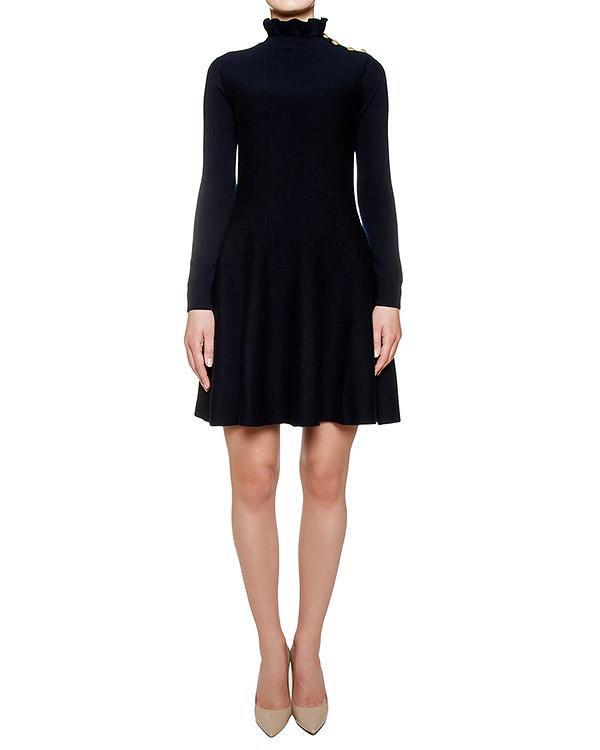 платье приталенного кроя из шерстяного трикотажа артикул LR0KD0G6 марки Valentino Red купить за 18200 руб.