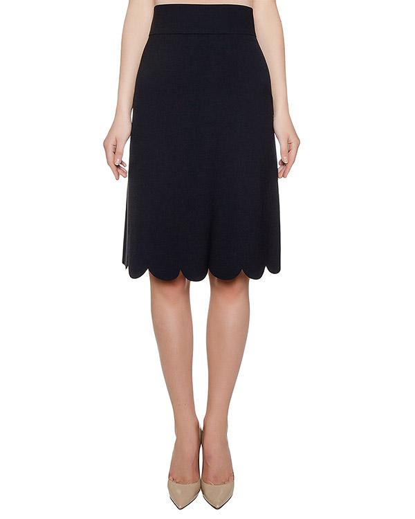 юбка из плотной ткани с фигурным низом артикул LR0RA1G5 марки Valentino Red купить за 10100 руб.