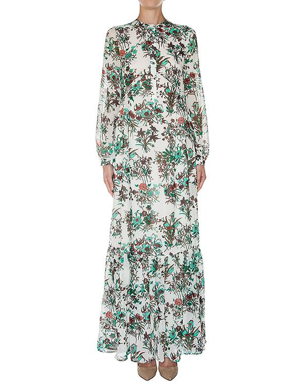 платье в пол из легкой ткани с цветочным принтом артикул LUCKYLOVE марки Essentiel купить за 9700 руб.