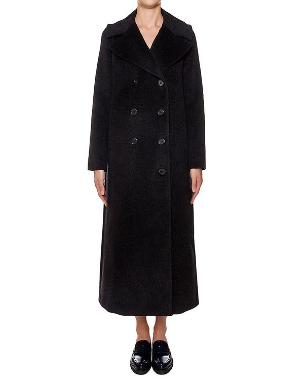 пальто прямого кроя из плотной вирджинской шерсти и кашемира артикул LUSIXY430085 марки P.A.R.O.S.H. купить за 21800 руб.