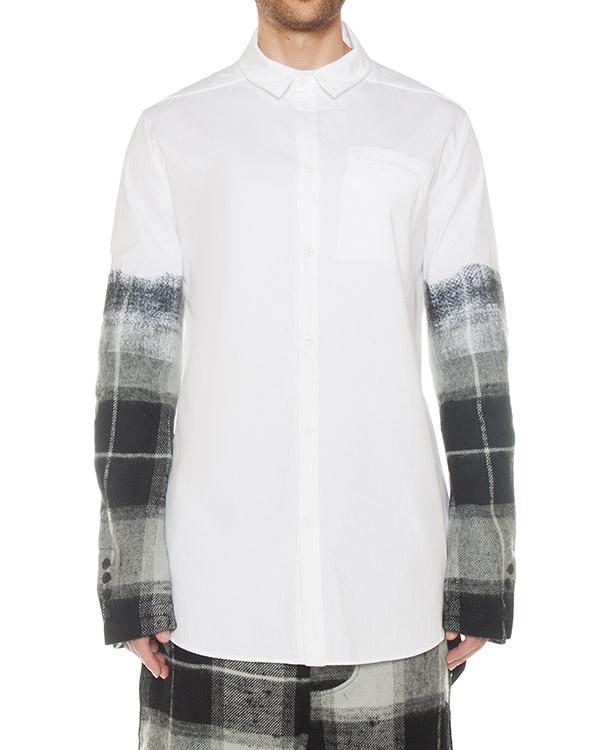 рубашка из льна с отделкой шерстью артикул M21601396 марки Lost&Found купить за 48300 руб.