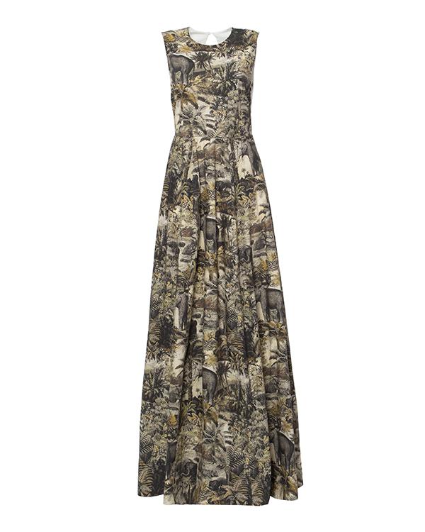 платье из тонкого хлопка с рисунком с открытой спиной артикул M2MH223 марки № 21 купить за 32900 руб.