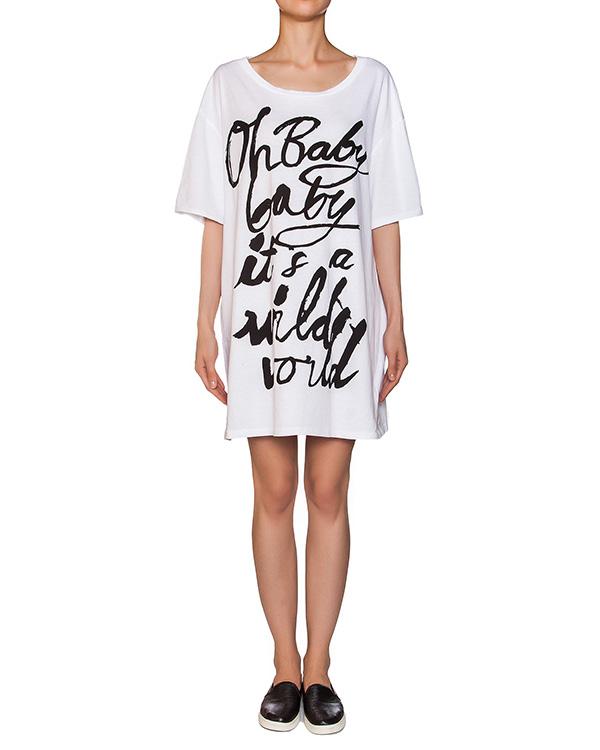 платье свободного кроя из легкой ткани с принтом артикул M331 марки 5Preview купить за 3300 руб.