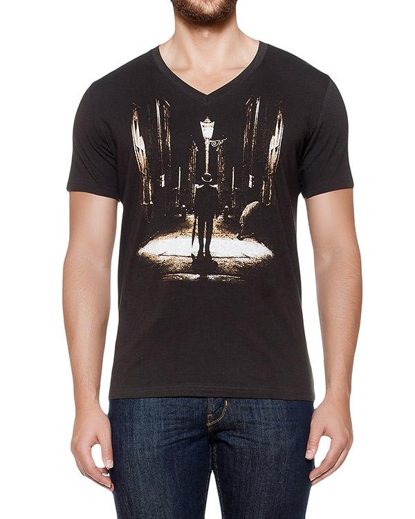 футболка из хлопкового трикотажа с принтом артикул MAFF0020 марки Tee Library купить за 2900 руб.