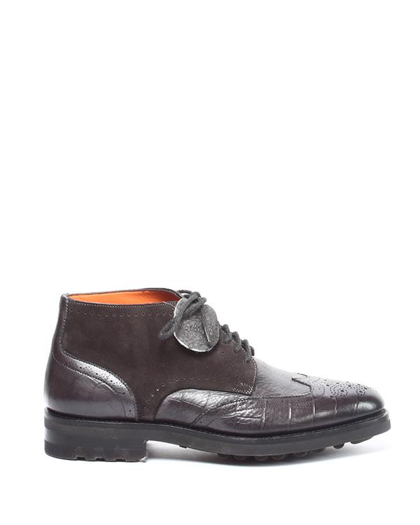 мужская ботинки Santoni, сезон: зима 2014/15. Купить за 24400 руб. | Фото 1