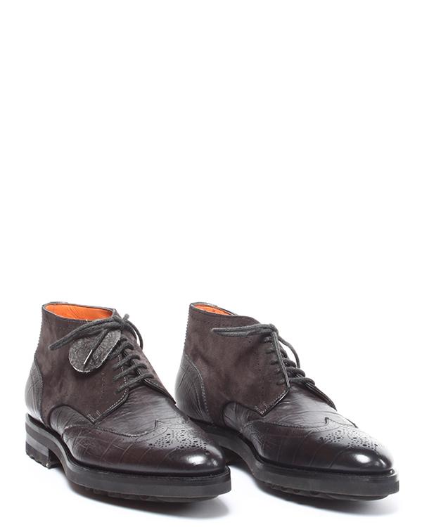 мужская ботинки Santoni, сезон: зима 2014/15. Купить за 24400 руб. | Фото 2