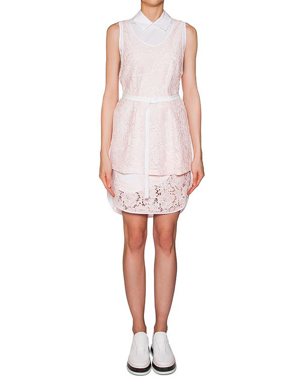 платье асимметричного кроя из хлопкового кружева артикул MDA13Y марки MSGM купить за 16500 руб.
