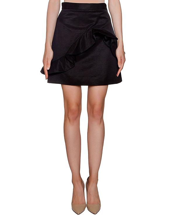 юбка из плотного хлопка с асимметричной оборкой артикул MDD118 марки MSGM купить за 10400 руб.