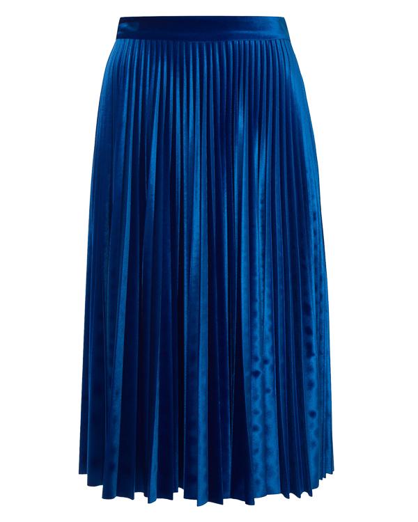 юбка плиссе из бархатного материала артикул MDD13 марки MSGM купить за 31000 руб.