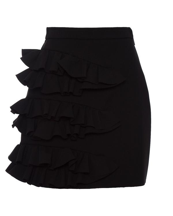юбка из плотного крепа с объемными оборками артикул MDD26 марки MSGM купить за 23600 руб.