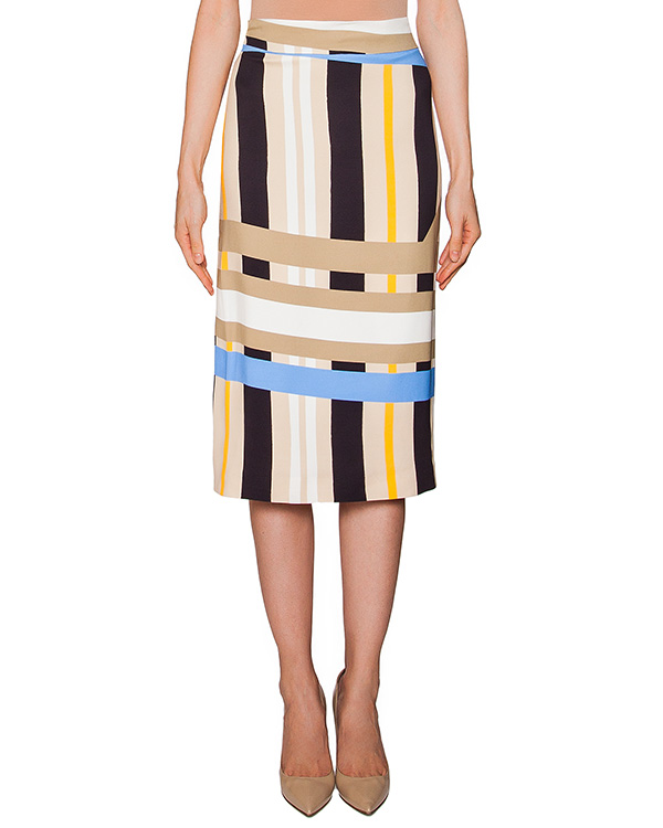 юбка из легкой ткани в полоску артикул MDD33 марки MSGM купить за 15000 руб.