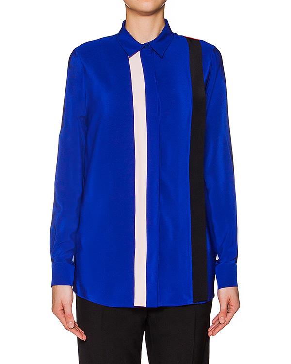 блуза прямого кроя из струящегося кружева, декорирована контрастными полосками артикул MDE01Y марки MSGM купить за 18400 руб.