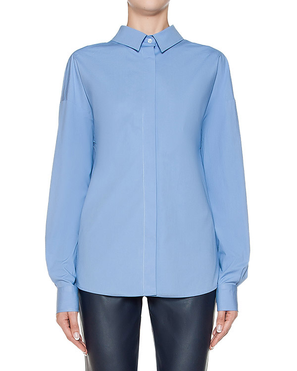 блуза из тонкого хлопка с завязками на спине артикул MDE30Y марки MSGM купить за 12700 руб.