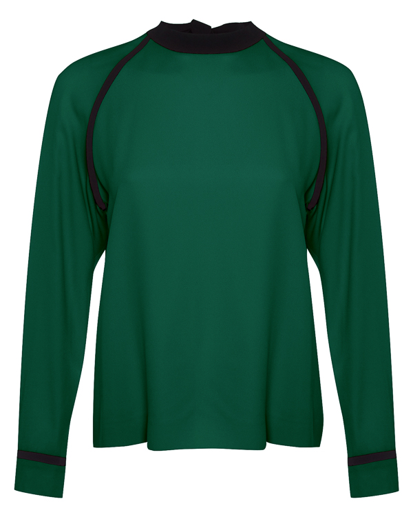 блуза из крепа с завязками на спине на бант артикул MDM17Y марки MSGM купить за 25800 руб.