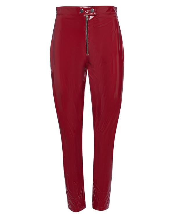 брюки из лакированного материала с высокой посадкой артикул MDP22 марки MSGM купить за 23600 руб.