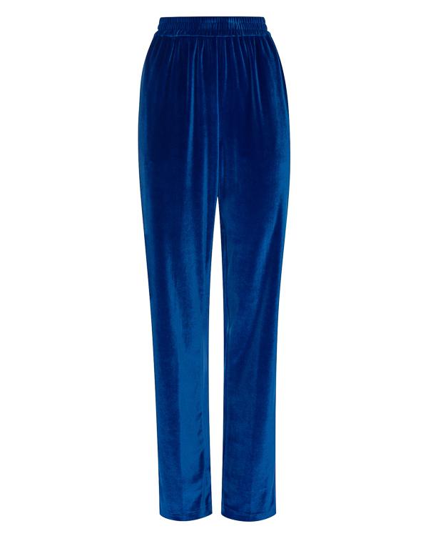 брюки широкого силуэта из бархата артикул MDP23Y марки MSGM купить за 17100 руб.
