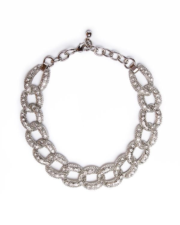 ожерелье из крупных металлических звеньев с кристаллами артикул MF192 марки Marina Fossati купить за 15000 руб.