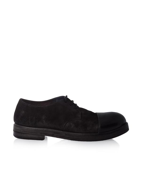 ботинки из комбинированной кожи артикул MM1175 марки Marsell купить за 42800 руб.