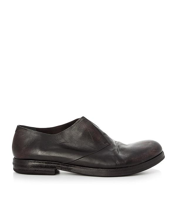 туфли дерби из кожи с эффектом состаривания артикул MM2280 марки Marsell купить за 38500 руб.